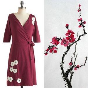 ModCloth Magnolia Blossoms Wrap Dress